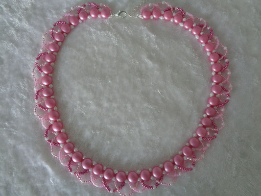 """Candy-Twist"" Kette in rosa 25 Euro"