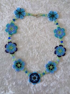 Blumenkette blau 30 Euro verkauft