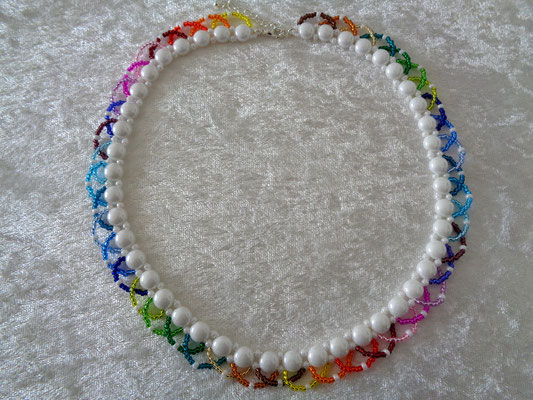 """Candy-Twist"" Kette in Regenbogen 30 Euro"