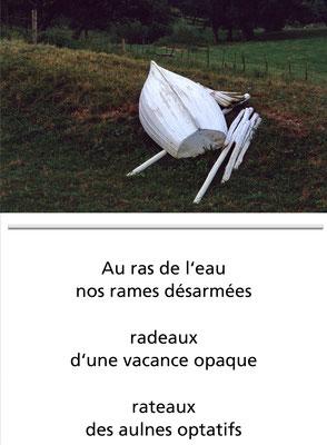 Poëme: Ion Karakash, Au Ras de l'Eau. Photo: Jean-Rémy Berthoud, Espoir