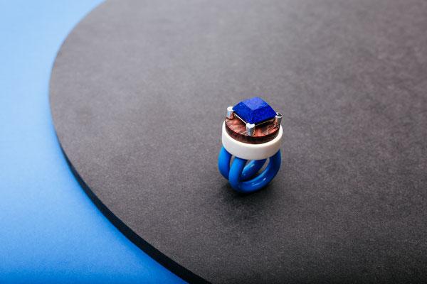 Icona (Silber_Lapis Lazuli_Elforyn_ Pappelmaser_Aluminium_Kunststoff)