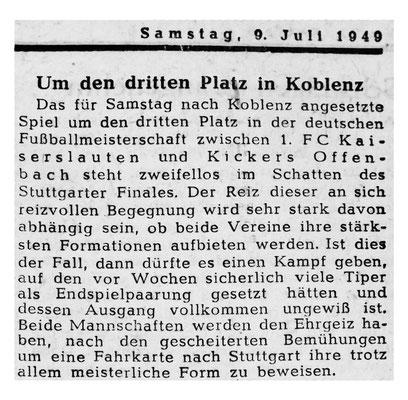Vorbericht Rheinpfalz 09.07.2019 (Bild: Archiv Eric Lindon)