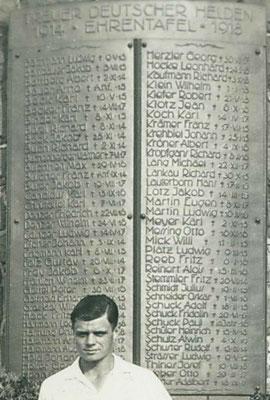 05. Juli 1931, Ehrentafel (Foto: Archiv Eric Lindon)