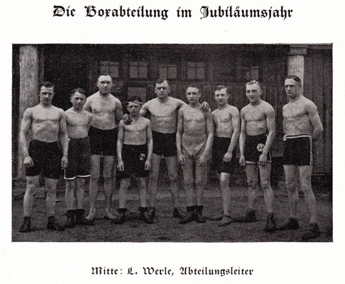 Box-Abteilung, FVK-Festschrift 1925 (Foto: Archiv Eric Lindon)