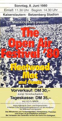 Festival-Ticket (Foto: Archiv Eric Lindon)