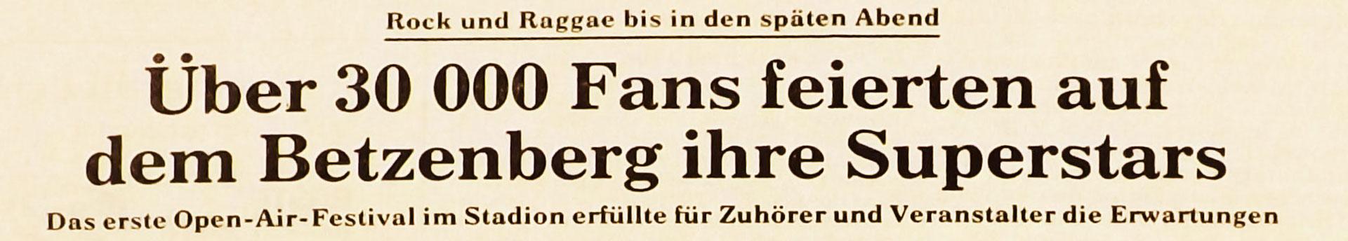 Rheinpfalz vom 09.06.1980 (Foto: Archiv Eric Lindon)