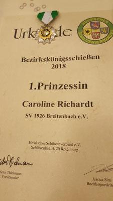 1. Prinzessin des Königshauses: Caroline Richardt (in Abwesenheit geehrt)
