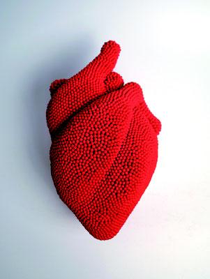 heart      2017     27×13×11 cm      マッチ棒・ミクストメディア