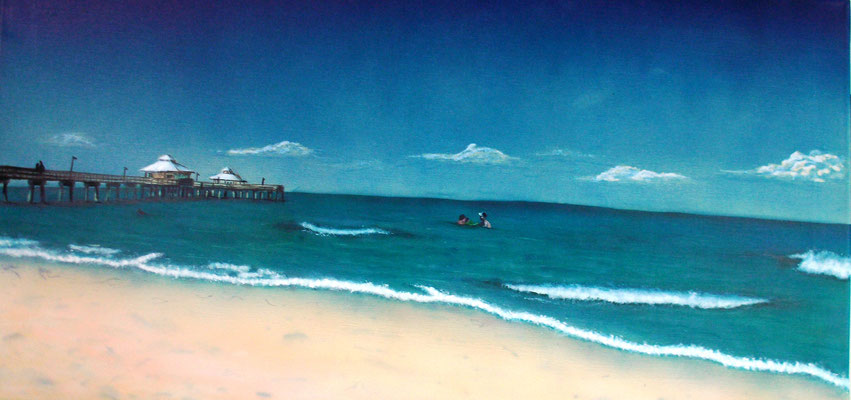 Florida, Airbrushgemälde nach drei Fotovorlagen, Leinwand, 40x80 cm (2013)