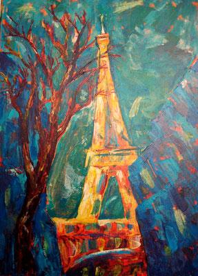 Paris, Acrylgemälde, Leinwand, 50x70 cm (2014)