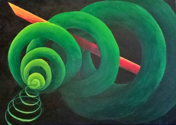 Verdreht, Acryl, 50x70 cm, Juni 2016