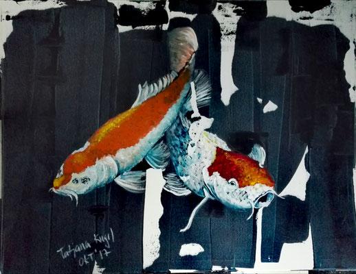 Eleganz & Leidenschaft, Acryl, 60x80 cm, Oktober 2017