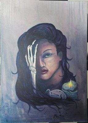 Vanitas (Vergänglichkeit), Acryl, 50x70 cm, Mai 2018