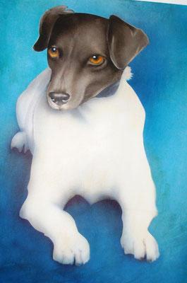 Tayfun, Airbrushportrait nach einer Fotovorlage, Leinwand, 30x40 cm (2013)