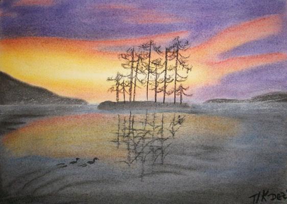 Neustart, Pastellkreide, Zeichenpapier, 30x40 cm (2007)