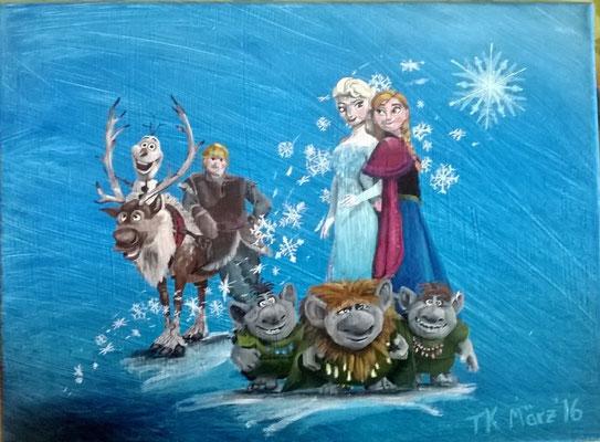Frozen, Acrylgemälde, Leinwand, 30x40 cm (2016)