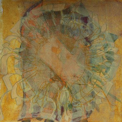 40 x 40 cm | acrylique mixte sur papier | 2019 | fr 500