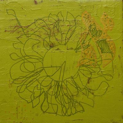 acrylique mixte sur papier, 18 x 18 cm, 2020 | fr 260