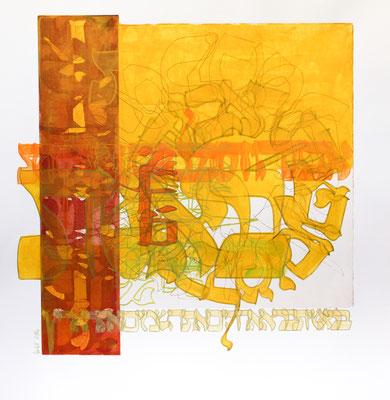Acrylique mixte sur papier, 50 x 50 cm, 2016
