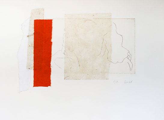 eau-forte et collage, 27 x 38 cm | fr 330