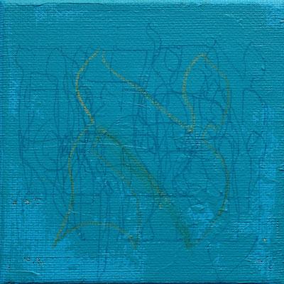 acrylique mixte sur toile, 10 x 10 cm, 2021 | fr 80
