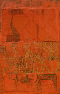 acrylique mixte sur toile, 29 x 19 cm, 2020 | fr 350