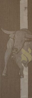 60 x 20 cm | acrylique mixte et broderie sur toile | 2020