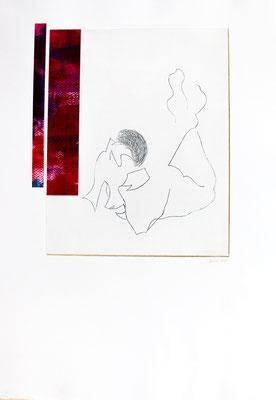 gravure et acrylique, 50 x 60 cm, 2018 | fr 660.-