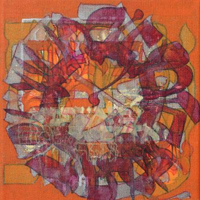 Acrylique mixte sur toile, 20 x 20 cm, 2017   vendu