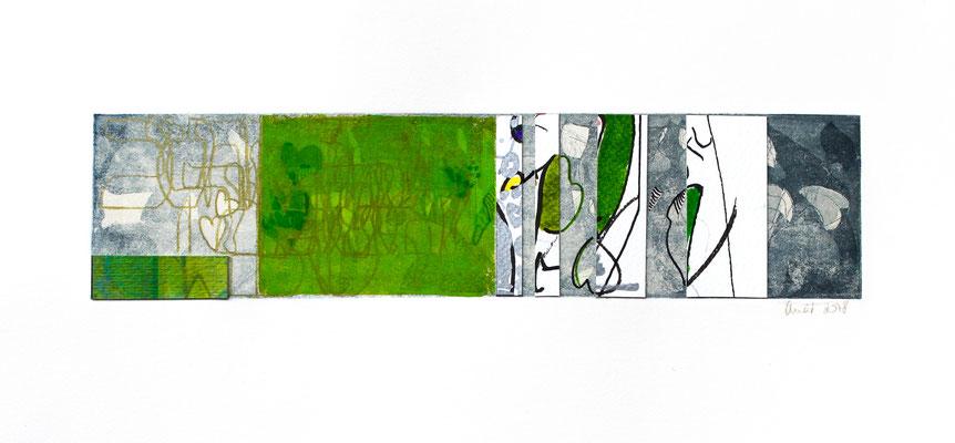 gravure et acrylique, 23 x 50 cm, 2018 | fr 390.-