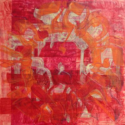 Acrylique mixte sur bois, 30 x 30 cm, 2016   fr 500