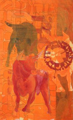 80 x 50 cm | acrylique mixte sur toile | 2019 | fr 1'500