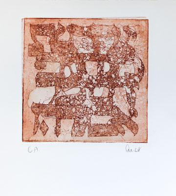 eau-forte et aquatinte, 18 x 18 cm   fr 110