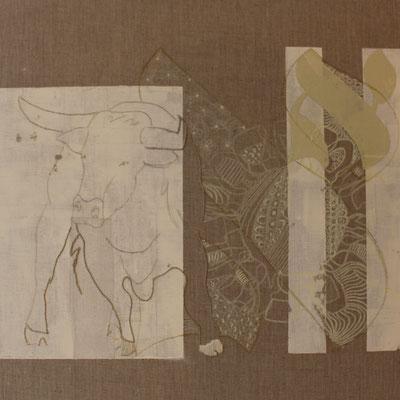 50 x 50 cm | acrylique mixte et broderie sur toile | 2020