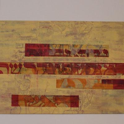 Acrylique mixte sur toile, 80 x 80 cm, 2016   vendu