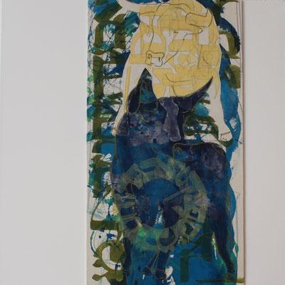 60 x 60 cm | acrylique mixte sur toile | 2019 | fr 1'100