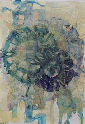 50 x 40 cm   acrylique mixte sur papier   2020   fr 600