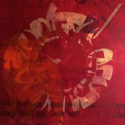 55 x 55 cm | acrylique mixte sur toile | 2019 | fr 1'100