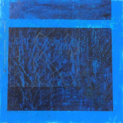 acrylique mixte sur toile, 30 x 30 cm, 2021 | fr 350