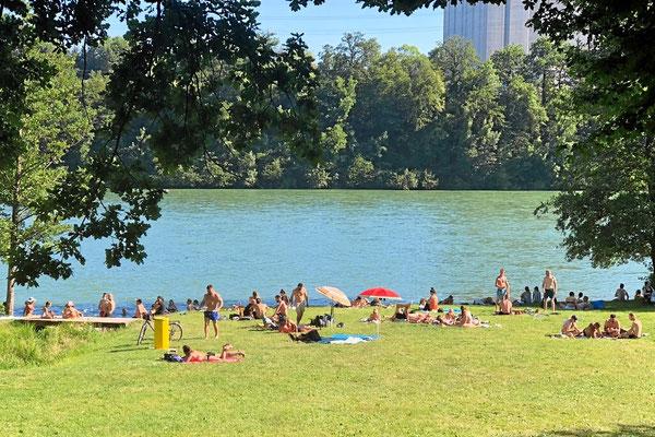 Das Hertener Loch, Badeparadies am Hochrhein