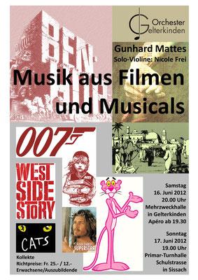 Musik aus Filmen und Musicals, Juni 2012