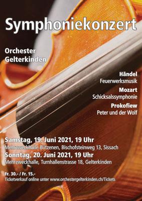 Symphoniekonzert, Juni 2021