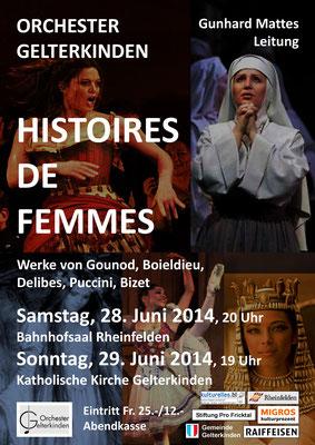 Histoires de Femmes, Juni 2014