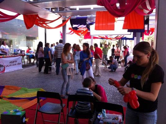 Feria Adopta. Terraza del MUVIM