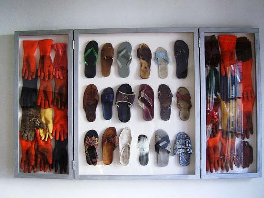 Handschoenen en slippers 178x107x7cm 1095,-