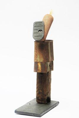 Johnny 10x17x35cm hoort bij Johnny's Biotoop Tekening potlood achter glas