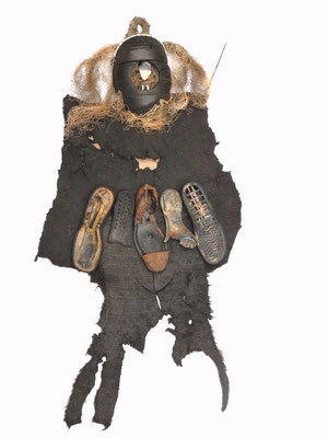 Prehistorische jager/visser 140x170cm 695,-