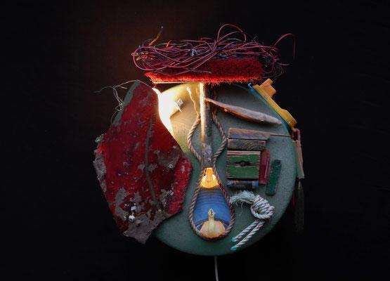 Zeeroep (wand-object) 55x55x35cm 425,-