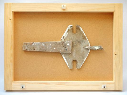 Idool gejut hout Texel 21ste eeuw na Christus 63x46x5cm 325,-