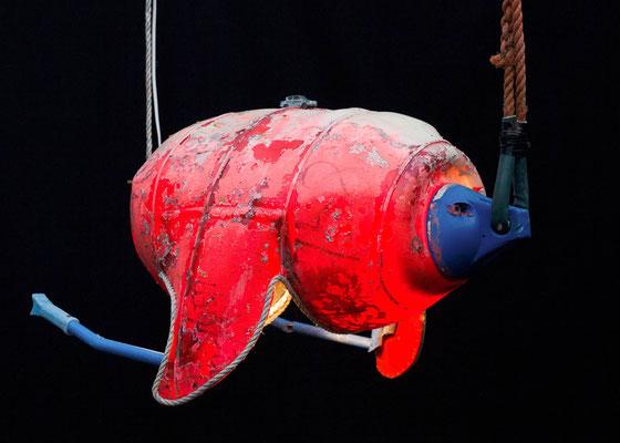 Zeeschildpad (hangend) 80x55x50cm 595,-